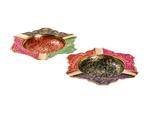 Set de 2 ceniceros de latón Jaipur