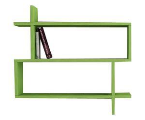 Estantería de pared PARALEL, verde - 70x65x22