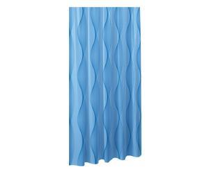 Cortina de ducha Onda, azul - 240x200
