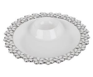 Plato para aperitivo de porcelana Chip & Dip