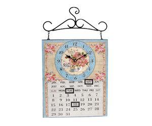 Reloj de pared de metal con calendario Monday