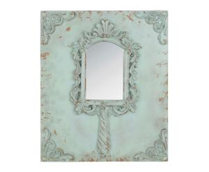 Espejo de pared en polirresina – verde envejecido