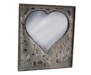 Espejo de pared en metal Heart