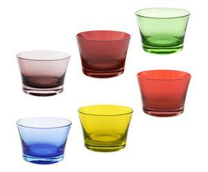 Set de 6 vasos Fantasía - multicolor