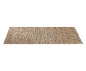 Alfombra de yute y lana Burma, natural - 60x180