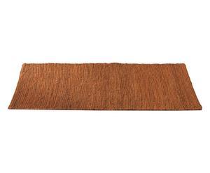 Alfombra de yute y lana Burma, canela - 60x240