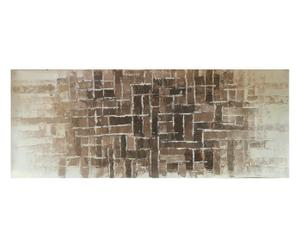Cuadro pintado a mano sobre tela Mosaico de piedra – 120x40