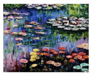 Cuadro impreso sobre tela El estanque de los nenúfares, de Claude Monet - 50x60