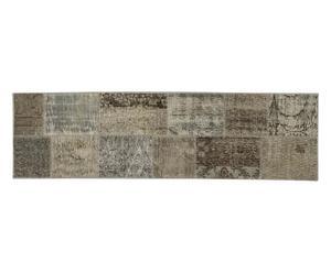 Alfombra de lana Anatolian Patchwork, gris claro - 200x60