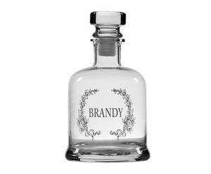 Botella de brandy en vidrio Dimanche