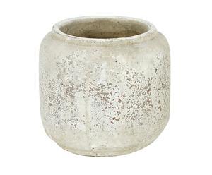 Maceta rústica en resina - blanco antiguo