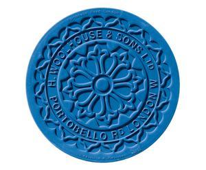 Salvamanteles termoplástico Londres, azul – Ø17