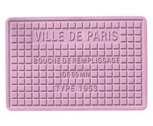 Salvamanteles termoplástico París, lila – 30x45