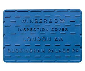 Salvamanteles termoplástico Londres, azul – 30x45