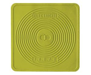 Salvamanteles termoplástico París, verde – 45x45
