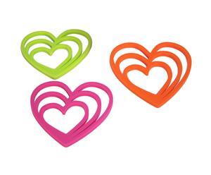 Set de 3 salvamanteles surtido Corazón
