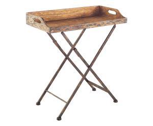 Mesa bandeja plegable en madera y hierro