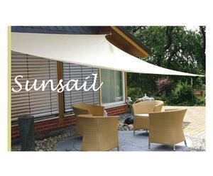 Toldo de jardín resistente al agua Sunsail, crema – 400x400