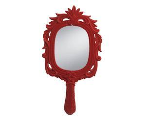 Espejo de pared en terciopelo - rojo