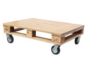 Mesa de centro con ruedas de madera Palets