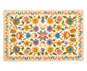 Alfombra de punto de cadeneta en lana y algodón Hashim - 61x92 cm