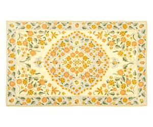 Alfombra de punto de cadeneta en lana y algodón Ihsaan - 76x122 cm