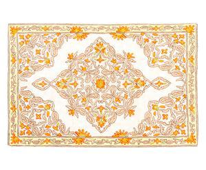 Alfombra de punto de cadeneta en seda y algodón Basma - 61x92 cm