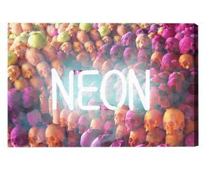 Lienzo sobre tela Neon Skulls – 91x61
