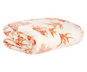 Edredón de matrimonio en algodón Coral, rojo - 270x260