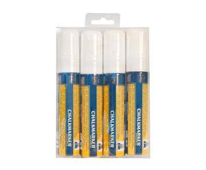 Set de 4 rotuladores de tiza líquida en punta gruesa – blanco