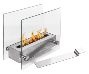 Chimenea de bioetanol de acero inoxidable y vidrio - acero
