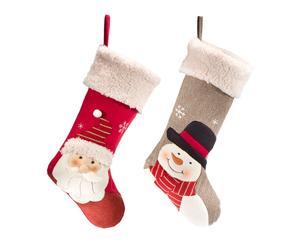 Set de 2 calcetines decorativos para colgar Personajes Navidad