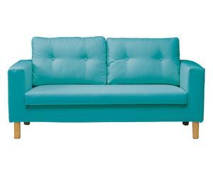 Sofá de 2 plazas Elder, turquesa - 160x84x84 cm