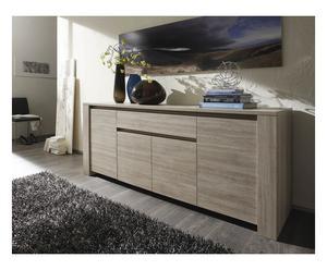 Mueble de madera con 4 puertas Flame - natural