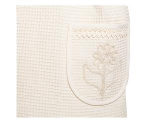 Set de delantal, guante y agarradera de algodón Helen - crudo