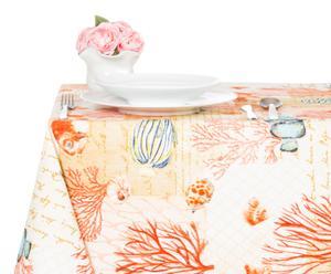 Mantel en algodón 100% Ibiza, naranja – 140x270