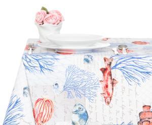 Mantel en algodón 100% Ibiza, azul – 140x360