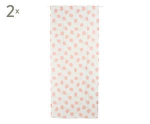 Set de 2 cortinas en algodón y poliéster Ibiza, naranja - 140x300