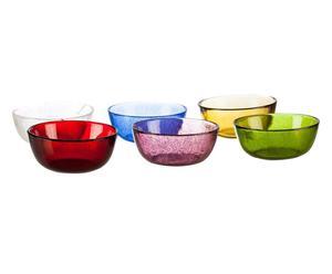 Set de 6 boles de vidrio Acapulco - multicolor