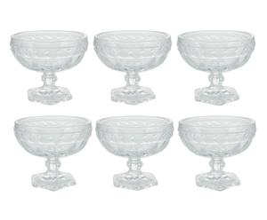 Set de 6 copas de postre en vidrio Imperial