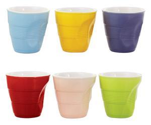 Set de 6 mugs en porcelana Daily - multicolor