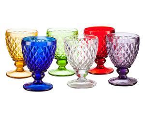Set de 6 copas de agua en vidrio Imperial - multicolor
