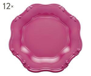Set de 12 bajoplatos en plástico Hippie - violeta