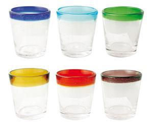 Juego de 6 vasos Tic Tac - multicolor