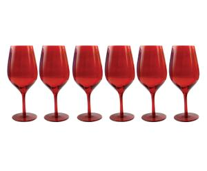 Set de 6 copas de vino Happy Hour – rojo