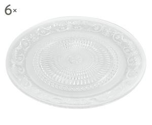 Set de 6 platos hondos en vidrio Imperial - transparente
