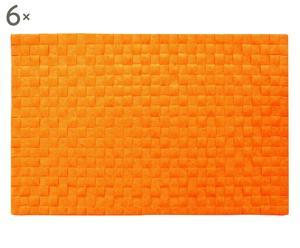 Set de 6 manteles individuales, naranja – 45x30