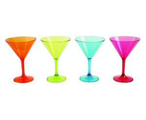Set de 4 copas de cóctel Martini – multicolor