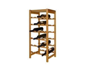Mueble botellero de madera para 24 botellas