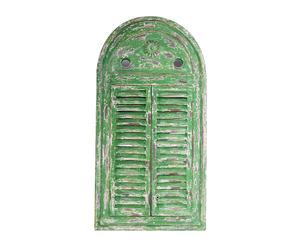 Espejo de pared con forma de ventana - verde